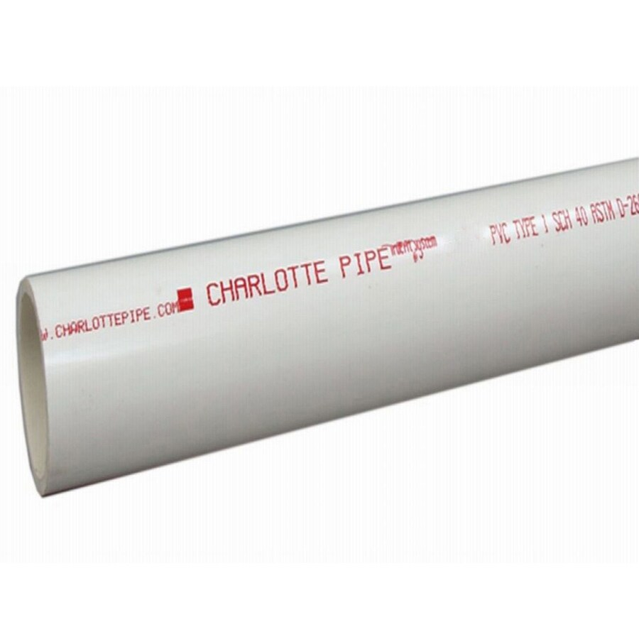 charlotte pipe pvc pipe 2 in dia x 10 ft schedule 40 pipe