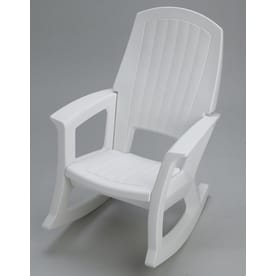 rocking chair white outdoor black lycra covers patio chairs at lowes com hdpe