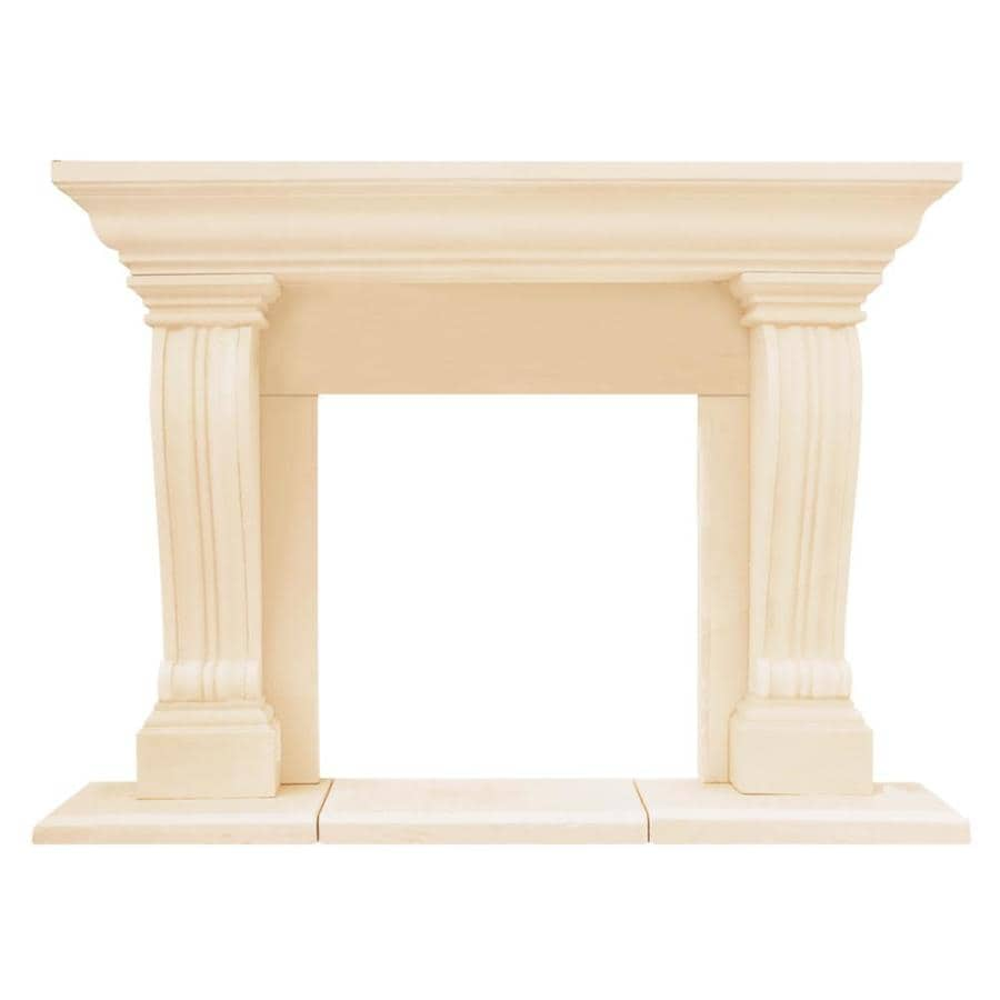HISTORIC MANTELS LIMITED Chateau 74in W x 545in H Distressed IvoryBeige Contemporary