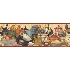 Wall Paper Borders For Kitchens Chrome Kitchen Faucets Imperial 9 1 4 Shelf Prepasted Wallpaper Border At Lowes Com