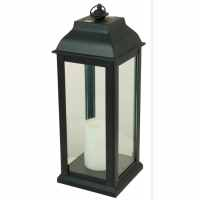 Shop 5.94-in x 16-in Black Glass Solar Outdoor Decorative ...