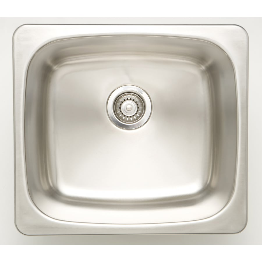 american imaginations 20 in x 20 in 1 basin chrome undermount laundry sink with drain