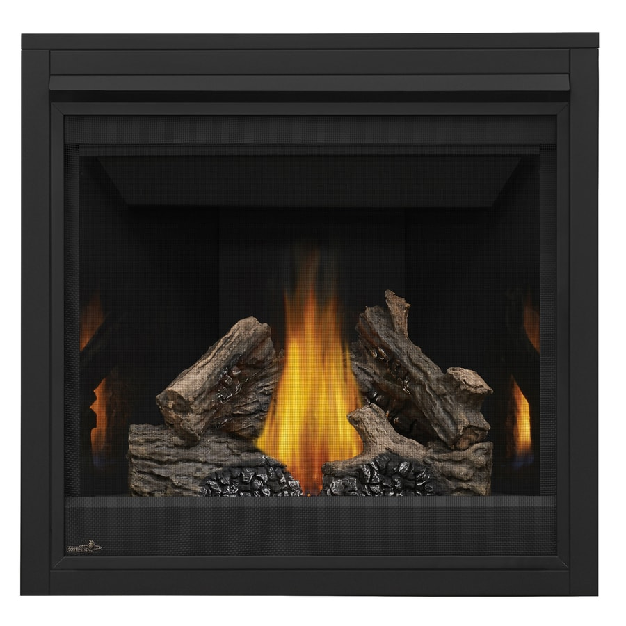 Shop Continental 35in Direct Vent Black Natural Gas