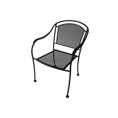 Stackable Metal Patio Chairs Chair Nightstand Garden Treasures Davenport Steel Dining With Mesh At