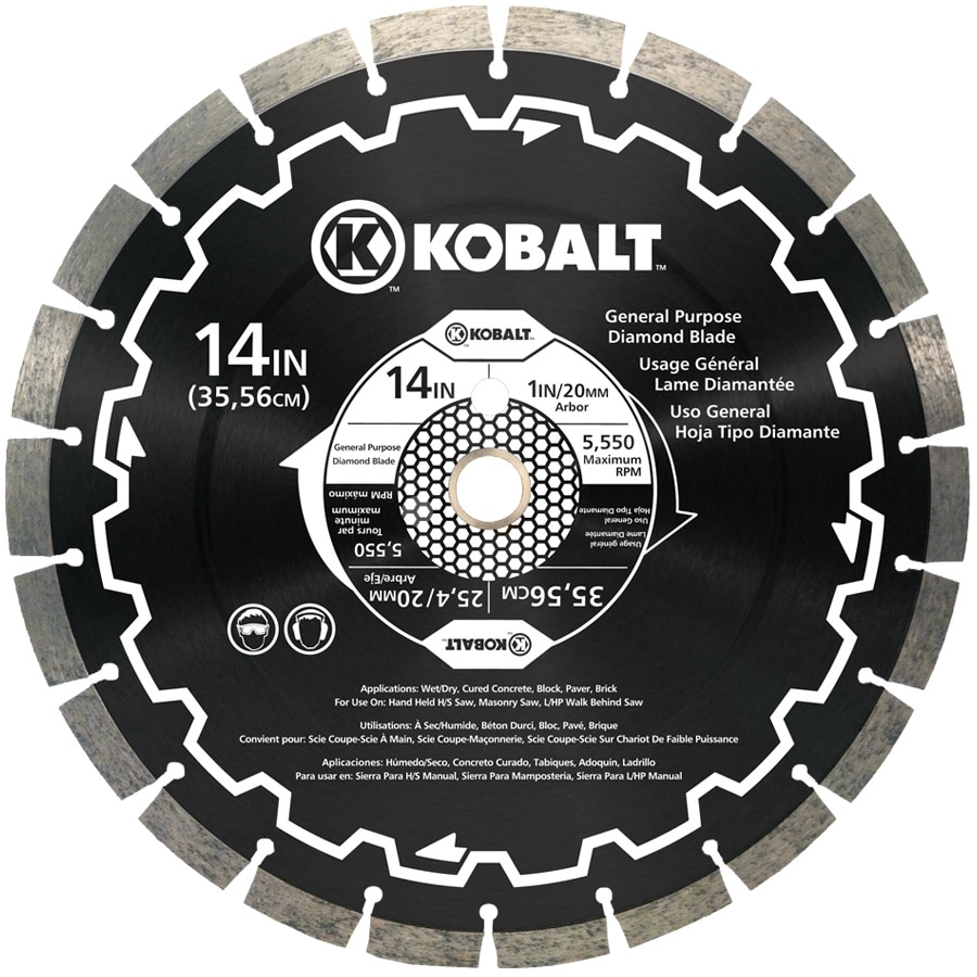 kobalt 14 in wet or dry segmented diamond