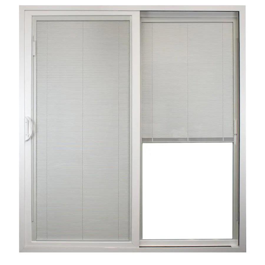 united window door 72 in x 80 in blinds between the glass vinyl left hand sliding patio doors patio door