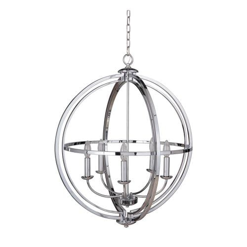 Craftmade Berkeley 5-Light Chrome Transitional Chandelier