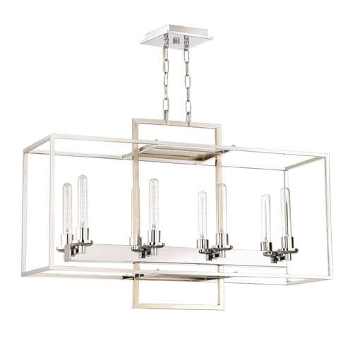 Craftmade Cubic 8-Light Chrome Transitional Chandelier in