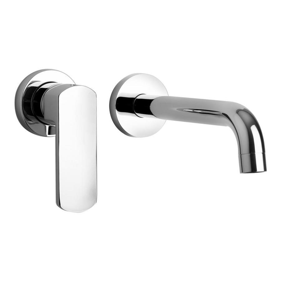 latoscana novello polished chrome 1 handle wall mount bathroom sink faucet