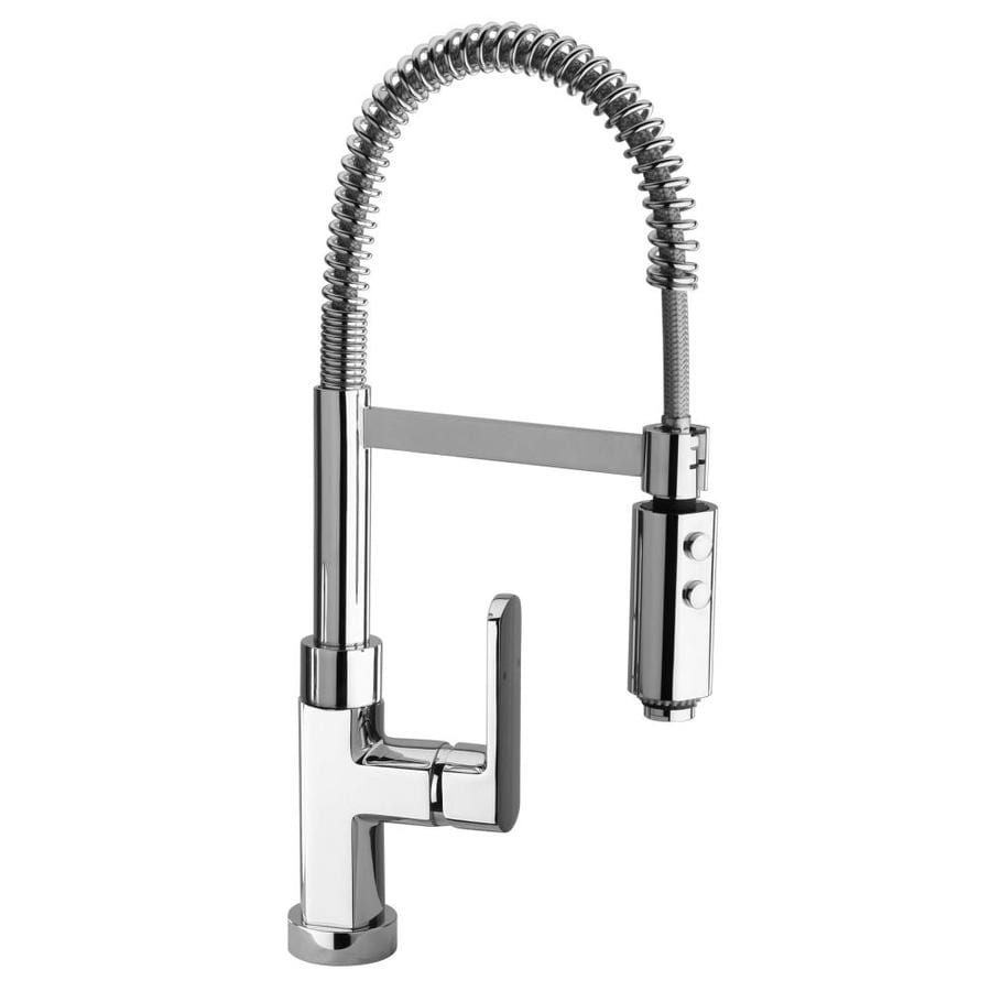 commercial kitchen faucet sink rugs latoscana novello chrome 1 handle deck mount pull out