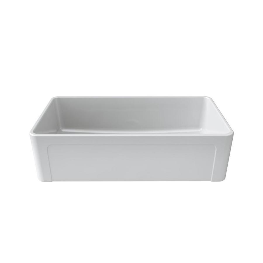 Shop LaToscana Reversible 36 In X 19 In White Single Basin