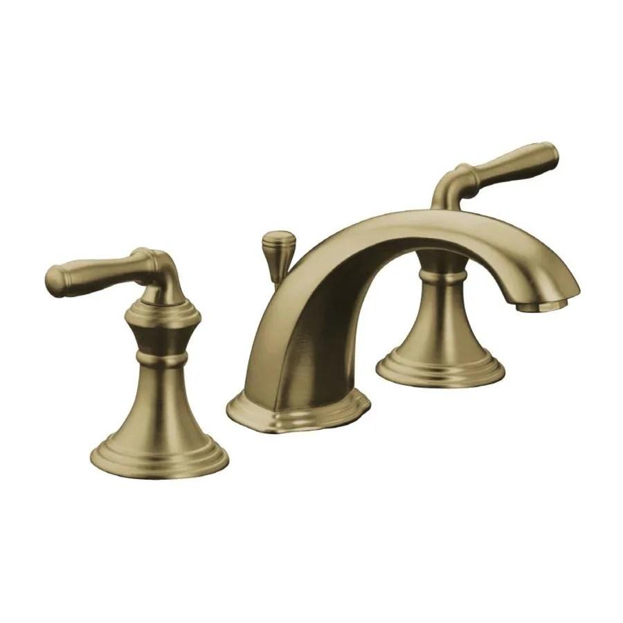 KOHLER Devonshire Vibrant Brushed Bronze 2Handle Widespread WaterSense Bathroom Faucet Drain