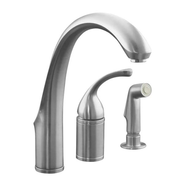 Kohler Kitchen Faucets Brushed Nickel