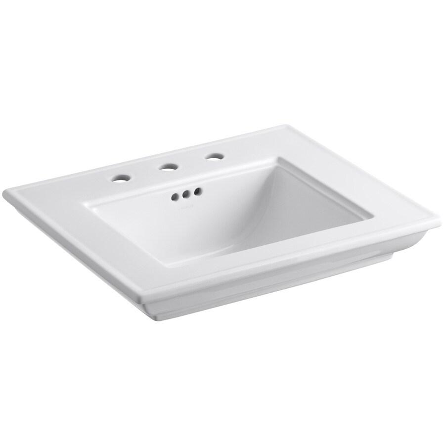kohler memoirs h white in the pedestal sinks department at lowes com
