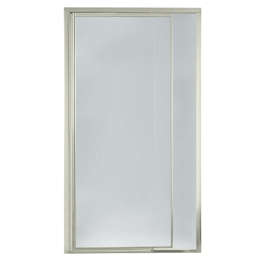 Sterling Vista Pivot II 36in to 42in W Framed Brushed Nickel Pivot Shower Door at Lowescom