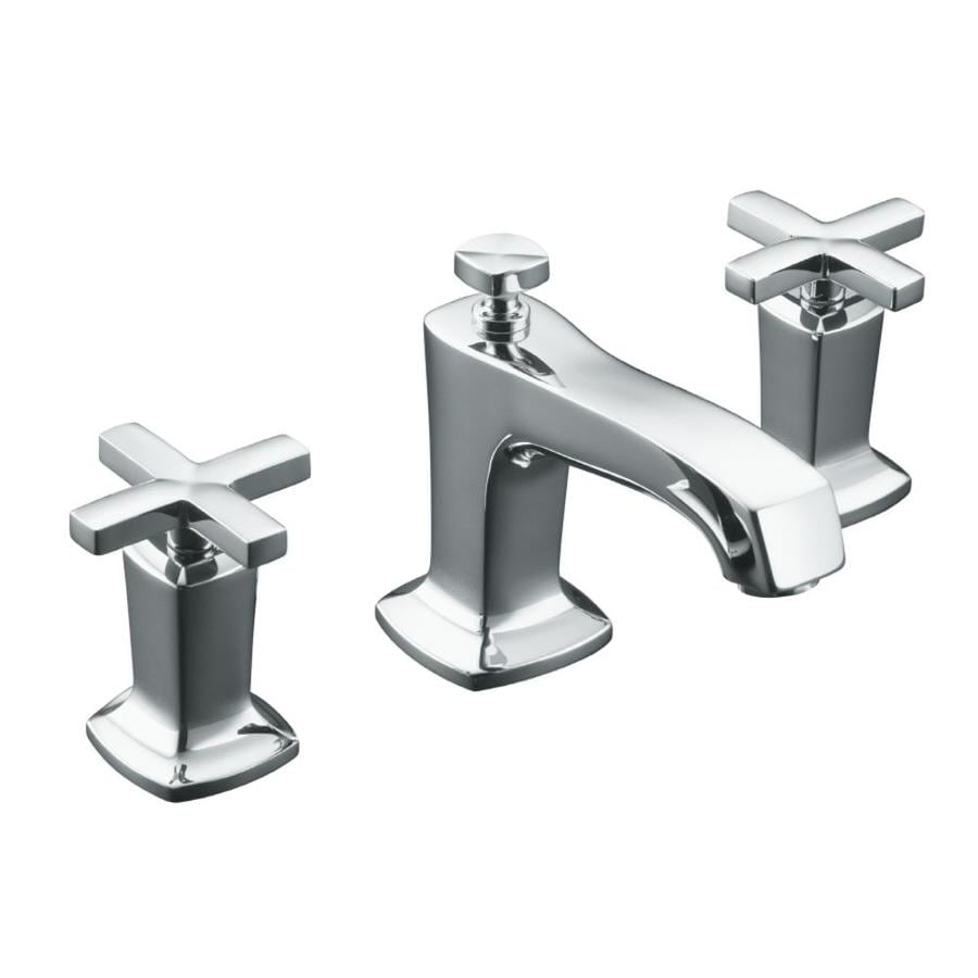 KOHLER Margaux Polished Chrome 2handle Widespread WaterSense Bathroom Sink Faucet with Drain at