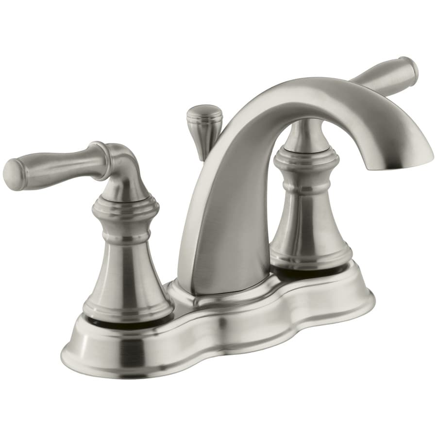 Shop KOHLER Devonshire Vibrant Brushed Nickel 2Handle 4in Centerset WaterSense Bathroom Faucet
