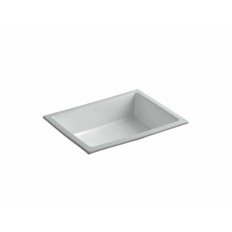 lowes undermount kitchen sink upgrades shop kohler verticyl ice grey rectangular ...