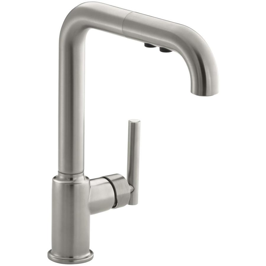 Shop KOHLER Purist Vibrant Stainless 1Handle Deck Mount