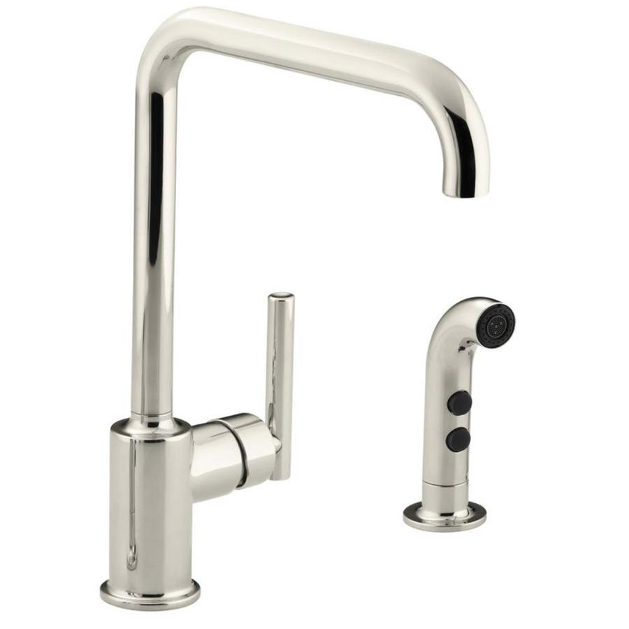 KOHLER Purist Vibrant Polished Nickel 1handle Deck Mount