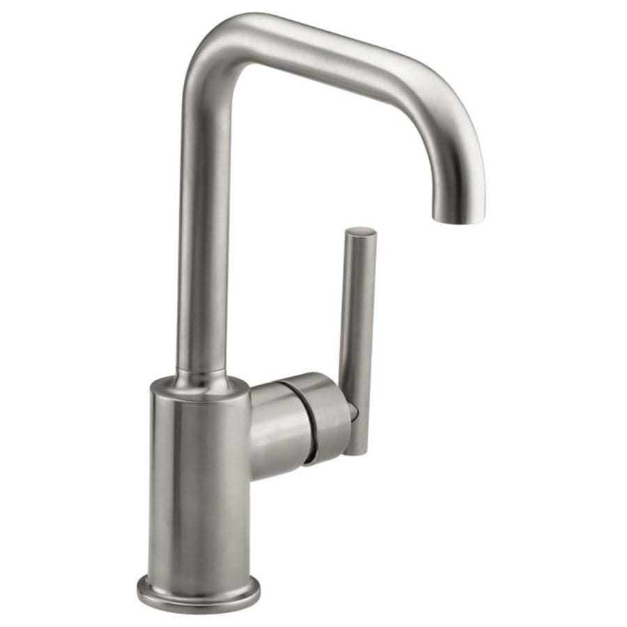 KOHLER Purist Vibrant Stainless 1Handle Deck Mount High