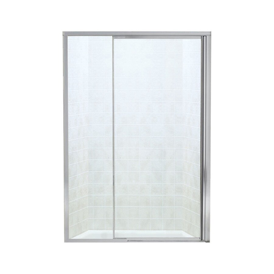 Sterling Vista Pivot II 42in to 48in W Framed Silver Pivot Shower Door at Lowescom