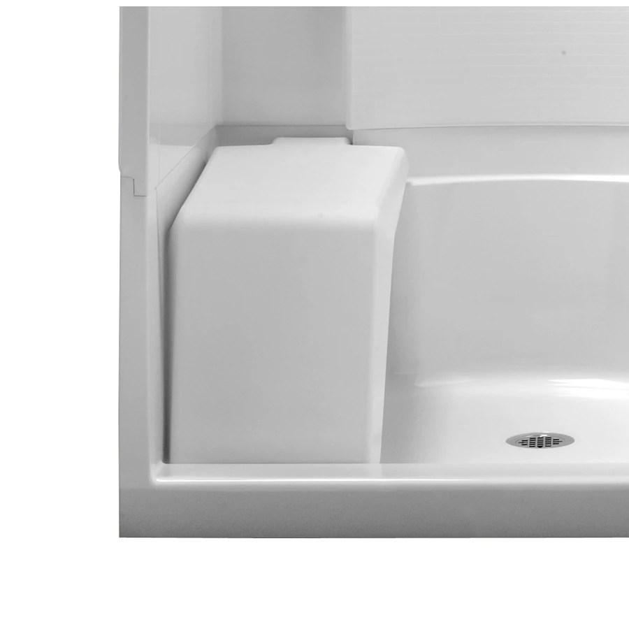 Sterling White Plastic Freestanding Shower Seat at Lowescom