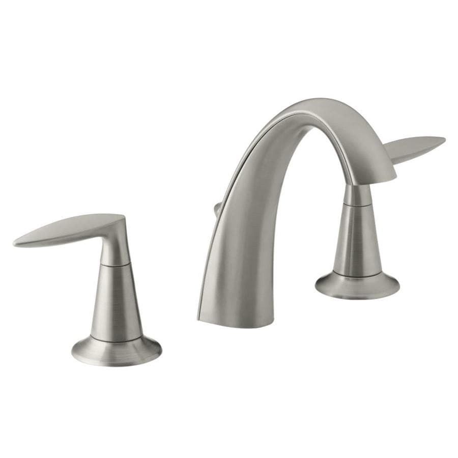KOHLER Alteo Vibrant Brushed Nickel 2handle Widespread WaterSense Bathroom Sink Faucet with