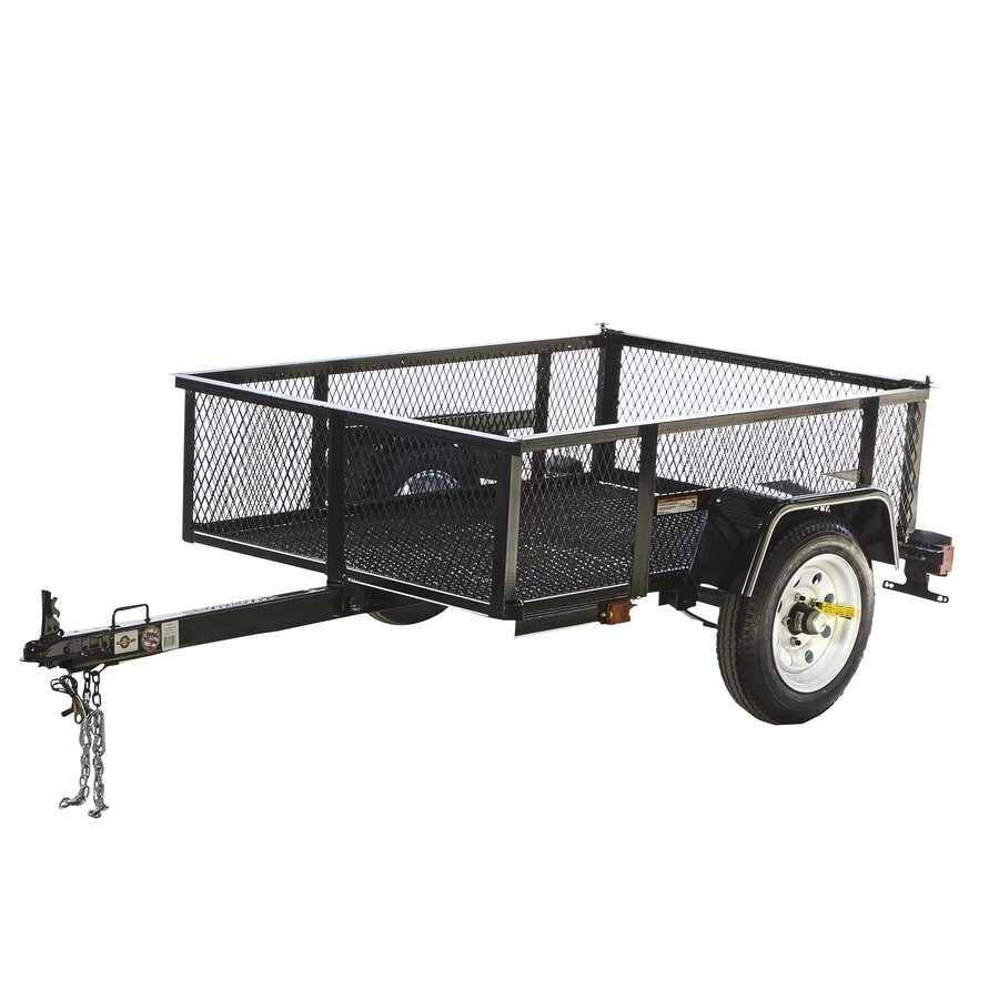hight resolution of carry on trailer 3 5 ft x 5 ft wire mesh utility trailer at lowes com