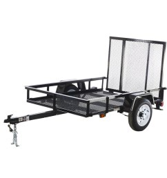 carry on trailer 4 ft x 6 ft wire mesh utility trailer with ramp gate [ 900 x 900 Pixel ]