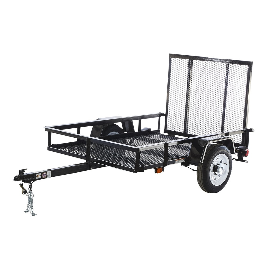 medium resolution of carry on trailer 4 ft x 6 ft wire mesh utility trailer with ramp gate