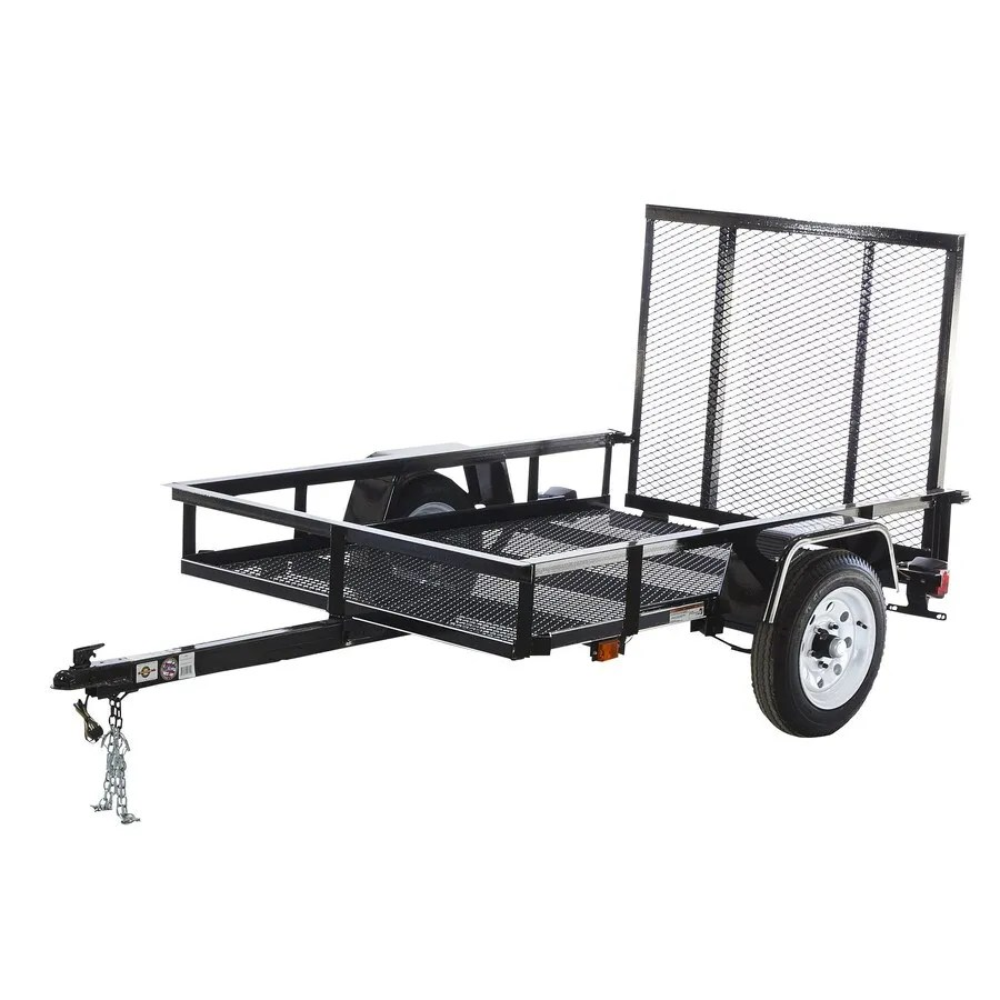 hight resolution of carry on trailer 4 ft x 6 ft wire mesh utility trailer with ramp gate