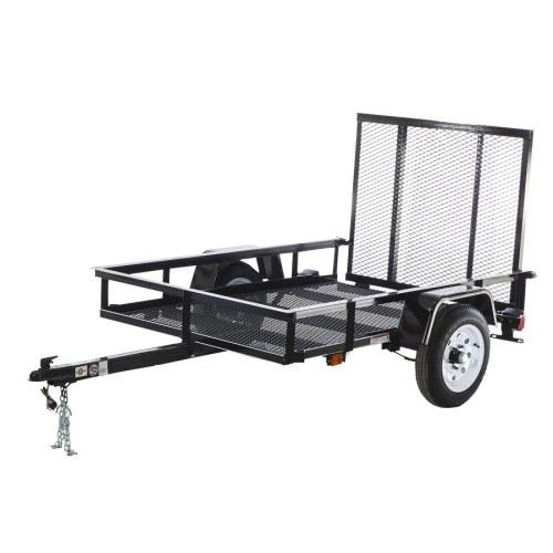 small resolution of carry on trailer 4 ft x 6 ft wire mesh utility trailer with ramp gate