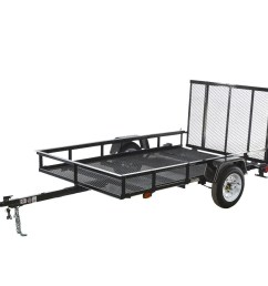carry on trailer 5 ft x 8 ft wire mesh utility trailer with ramp gate [ 900 x 900 Pixel ]