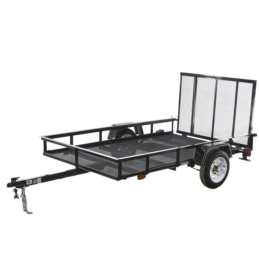 medium resolution of carry on trailer 5 ft x 8 ft wire mesh utility trailer with ramp gate