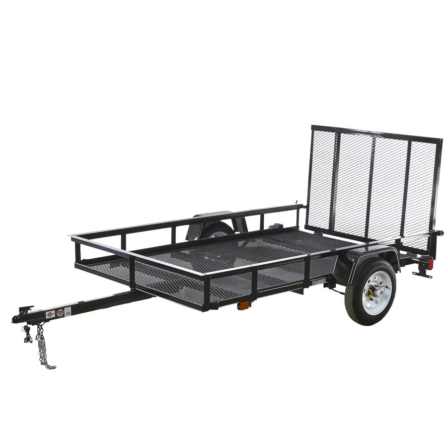 hight resolution of carry on trailer 5 ft x 8 ft wire mesh utility trailer with ramp gate