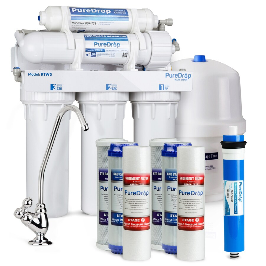 puredrop rtw5 5 stage ro water system 5 stage mechanical filtration reverse osmosis filtration system