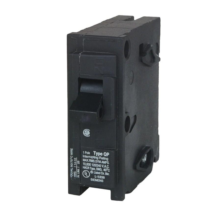 medium resolution of siemens qp 30 amp 1 pole single pole circuit breaker