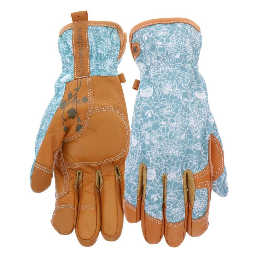 Style Selections Womens Medium Leather Garden Gloves In The Garden Gloves Department At Lowes Com
