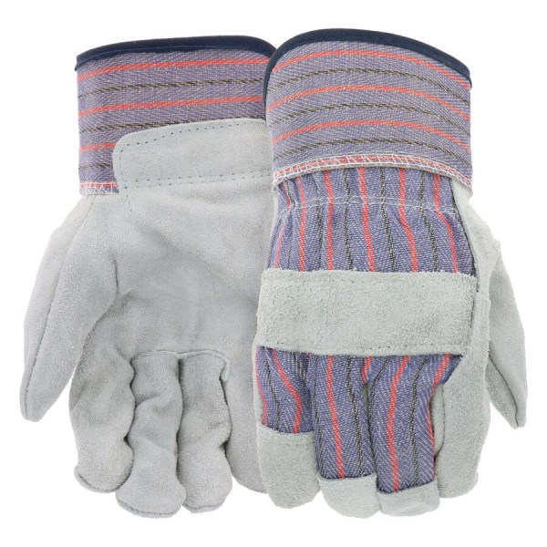 Blue Hawk Male Polyester Leather Palm Work Gloves Mens Job