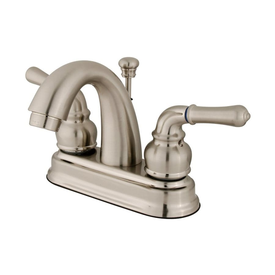 elements of design st charles brushed nickel 2 handle 4 in centerset bathroom sink faucet with drain