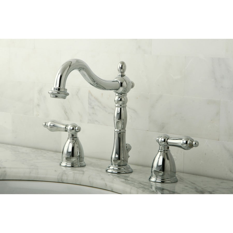 kingston brass kitchen faucets 3 hole shop georgian chrome 2-handle widespread ...