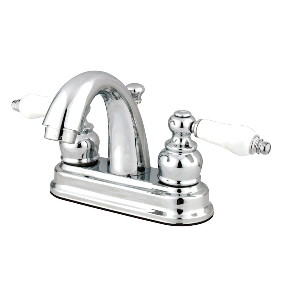 Kingston Brass Concord Chrome 2handle 4in Centerset WaterSense Bathroom Sink Faucet with Drain