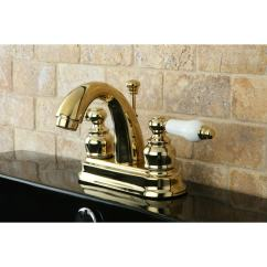 High Flow Rate Kitchen Faucets Vinyl Backsplash Shop Kingston Brass Concord Polished 2-handle 4-in ...