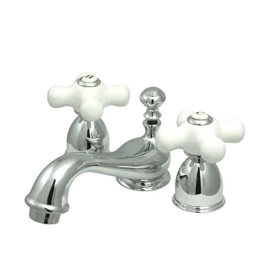 kingston brass kitchen faucet cabinets lancaster pa shop vintage chrome 2-handle 4-in mini ...