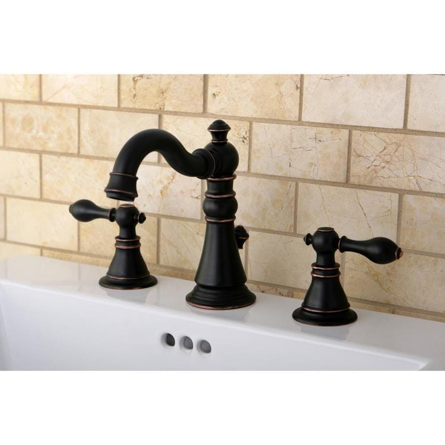 Shop Kingston Brass Vintage OilRubbed Bronze 2Handle Widespread Bathroom Sink Faucet at Lowescom