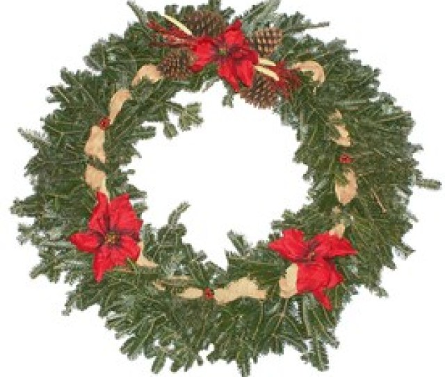 In Fresh Fraser Fir Christmas Wreath