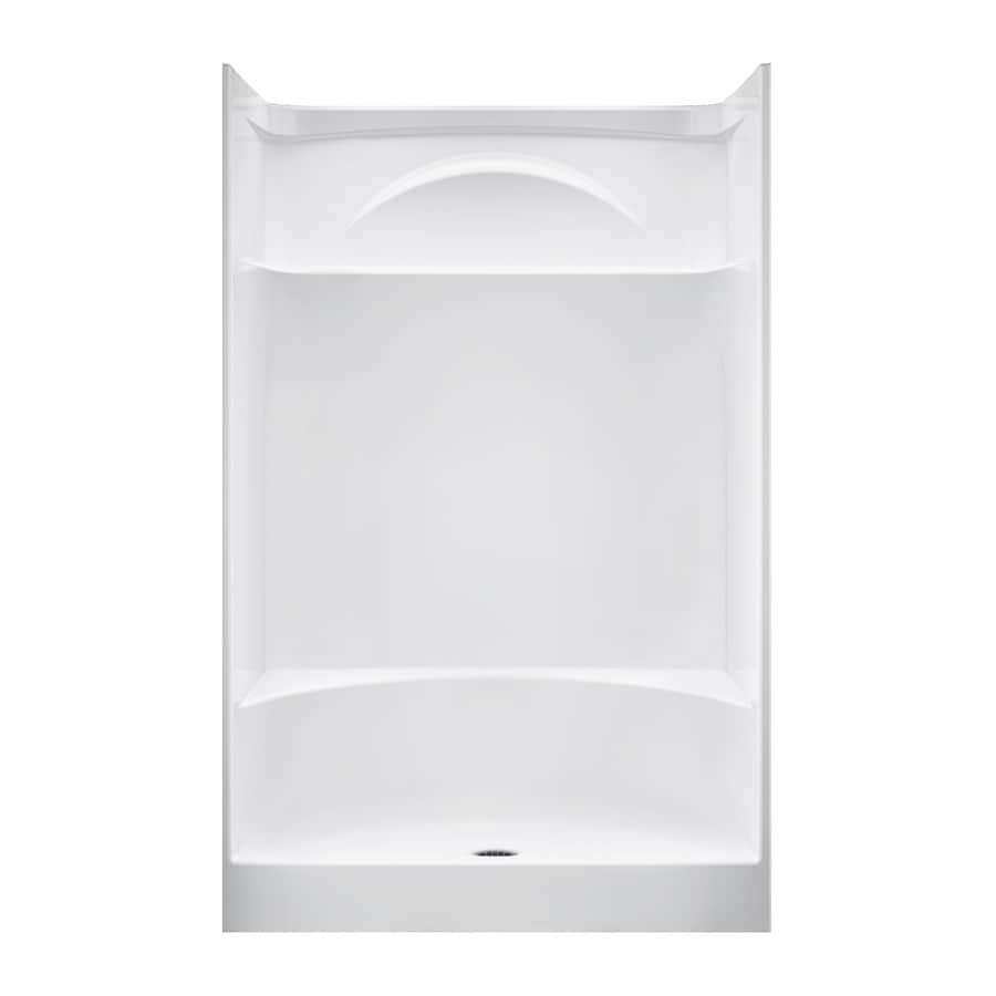 Shop DELTA White Acrylic One Piece Shower With Integrated