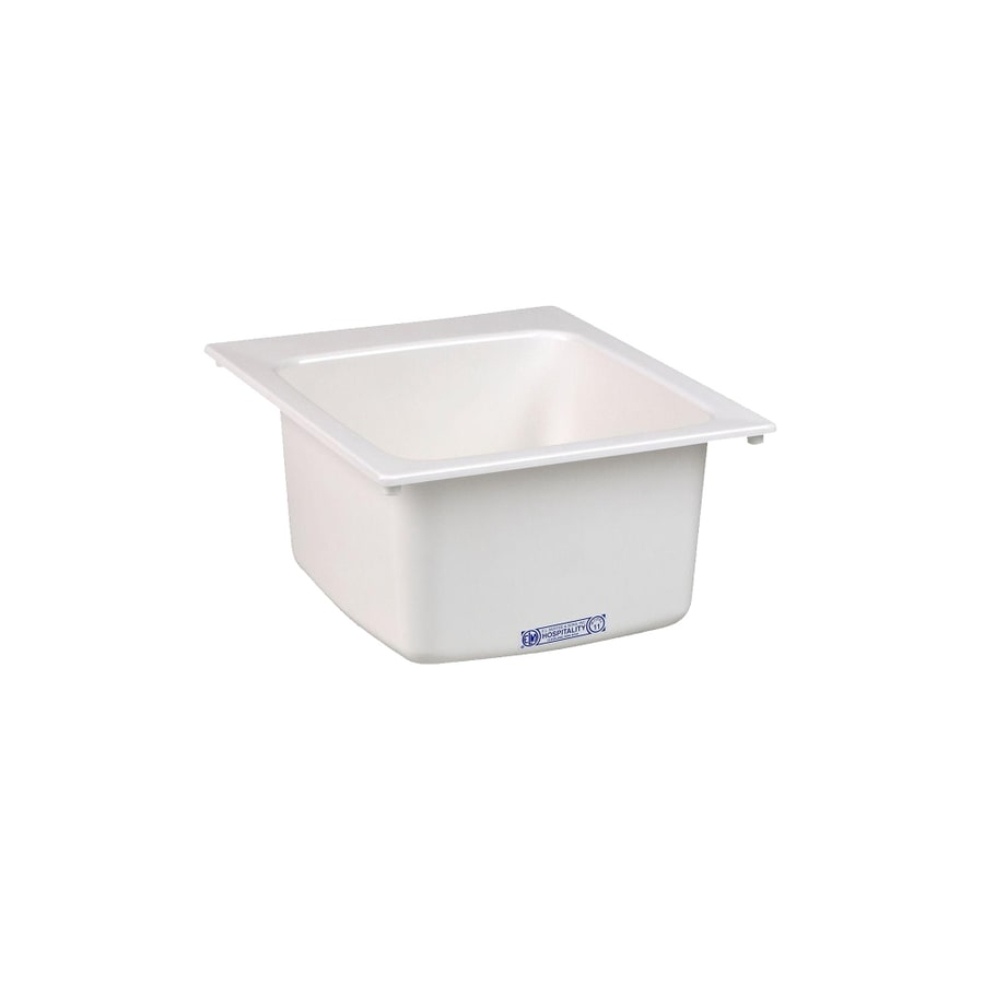 mustee 17 in x 20 in 1 basin white self rimming laundry sink