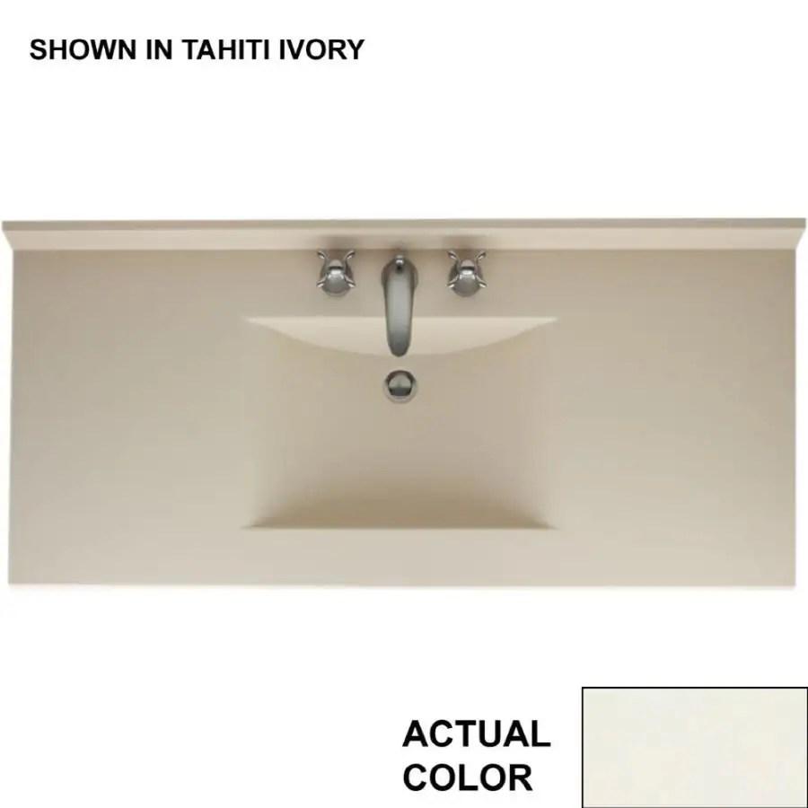 swan contour 49 in bisque solid surface single sink bathroom vanity top